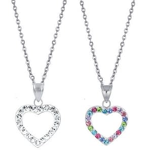 childrens crystal heart necklace