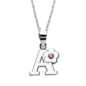 Childrens jewellery initial necklace A