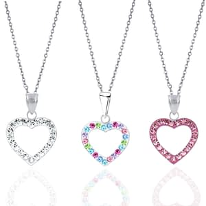 children's sterling silver heart necklace crystal jewellery gift for girls