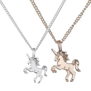unicorn necklace pendant for children gold silver