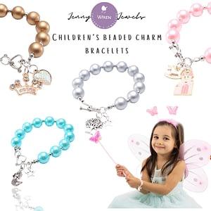 children's charm bracelet beaded jewellery gift for girls